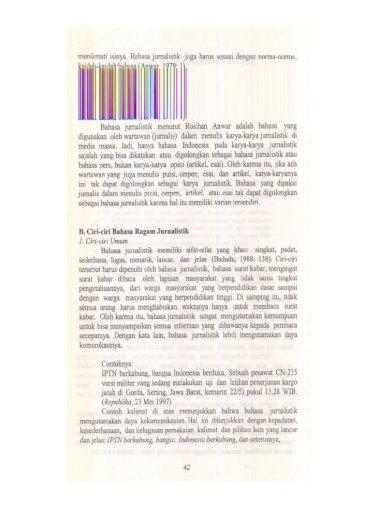 Abstrak Bahasa Jurnalistik Adalah Bahasa Yang Digunakan Jatuh Di Gorda Serang Jawa Barat Pdf Document
