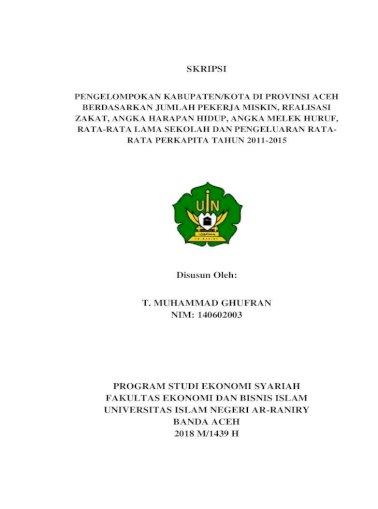 Skripsi 2018 12 19Ø¢ Fakultas Ekonomi Dan Bisnis Islam Febi Uin Ar Raniry Keluarga Besar Ldk Ar Risalah Pdf Document