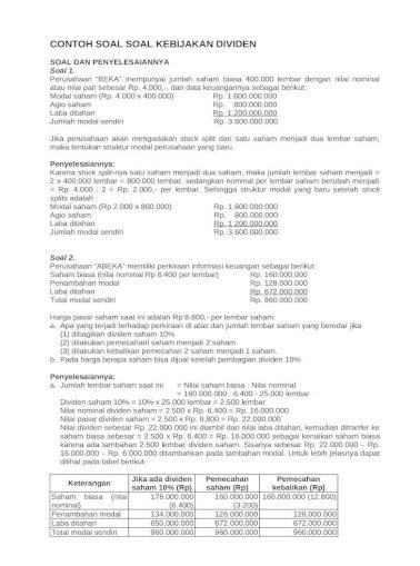 2014 Kebijakan Dividen Doc Document