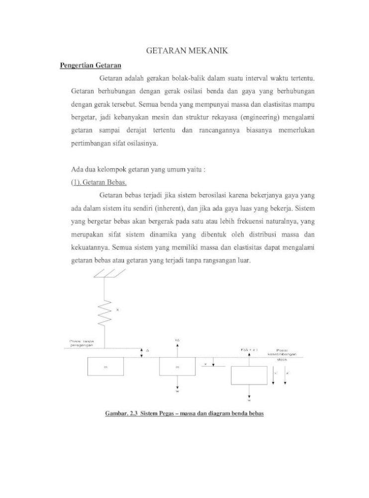Diktat Getaran Mekanik Pdf Document