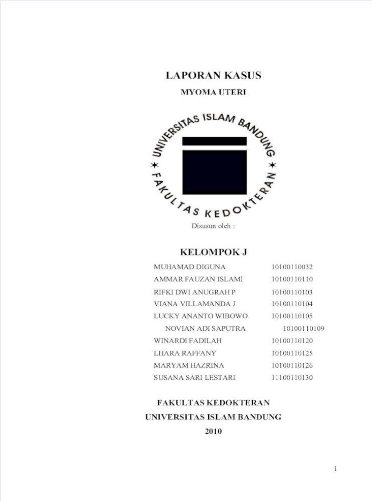 Myoma Uteri Pdf Document