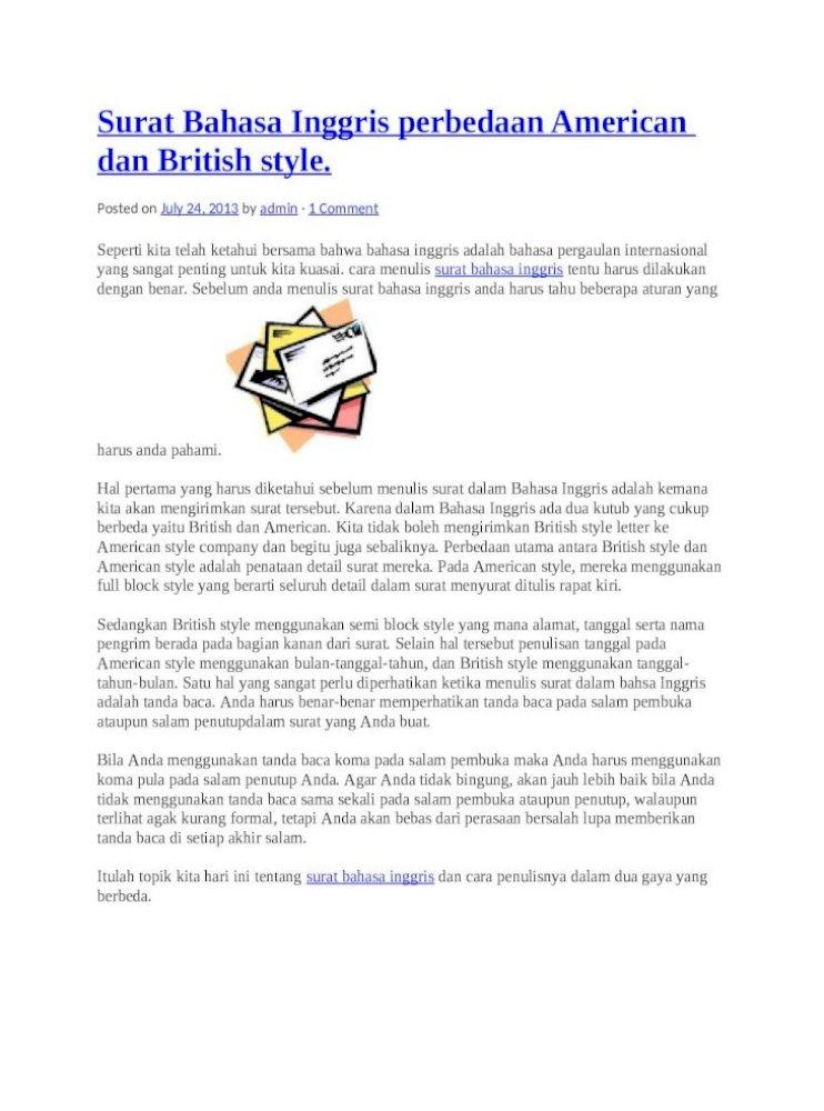 Contoh Surat Bahasa Inggris Docx Document