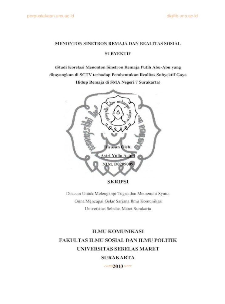 Skripsi Ilmu Komunikasi Fakultas Ilmu Sosial Dan Komunikasi Fakultas Ilmu Sosial Dan Ilmu Politik Pdf Document
