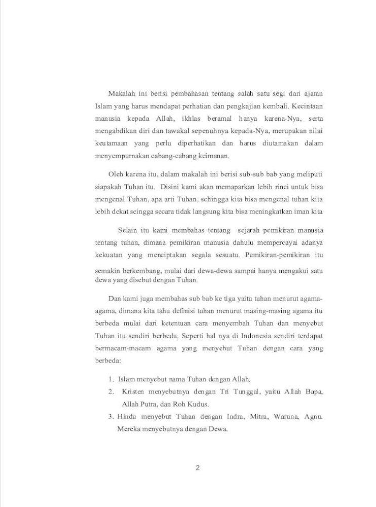 Konsep Ketuhanan Dalam Islam Pdf Document