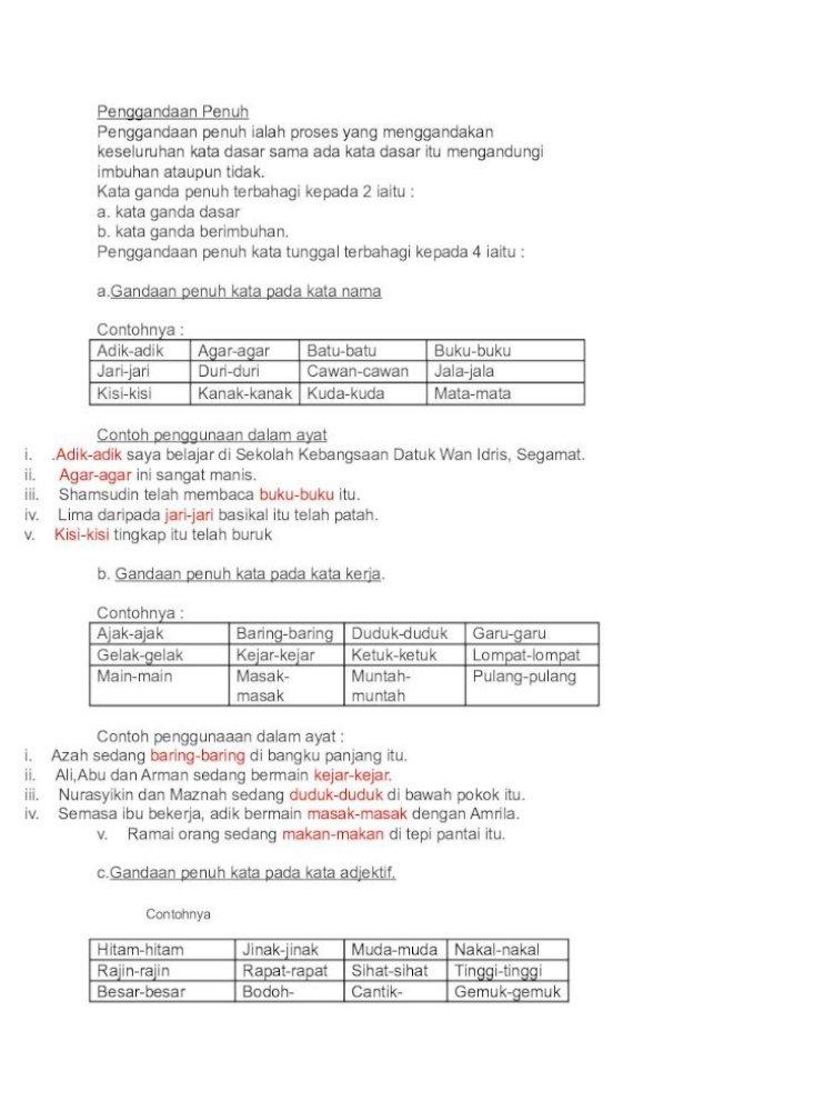 Kata Ganda Penuh Pdf Document