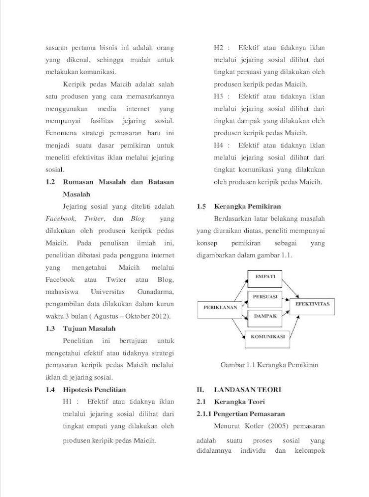 Efektivitas Iklan Melalui Jejaring Sosial Sebagai Salah Satu Strategi Pemasaran Keripik Pedas Maicih Dengan Menggunakan Metode Epic Pdf Document