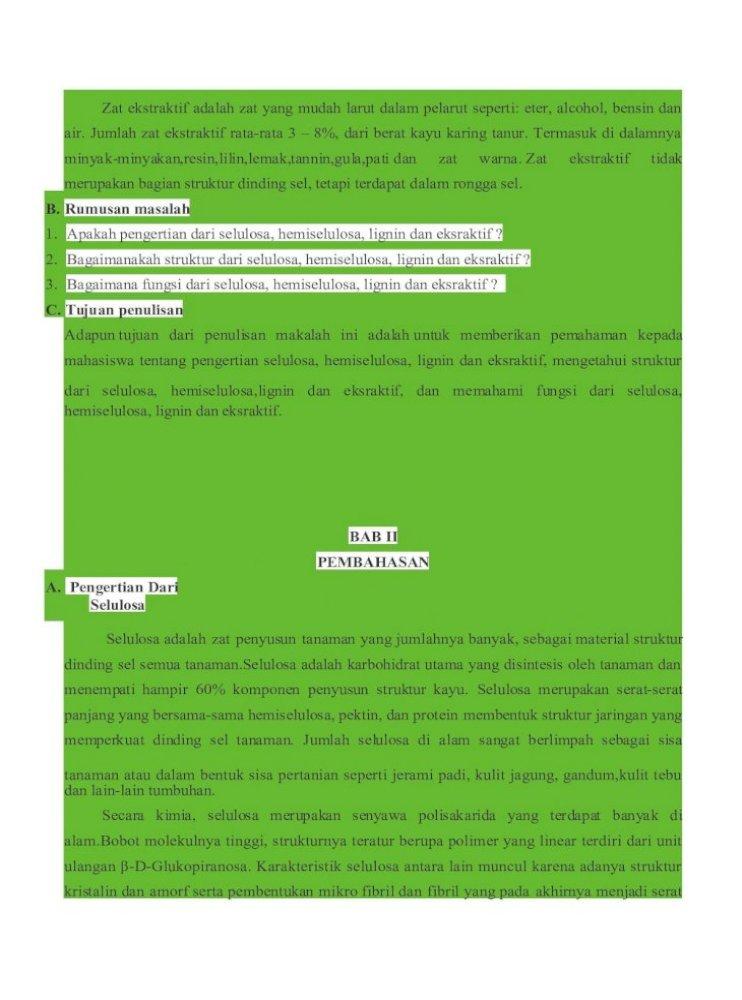 Komponen Kimia Kayu Pdf Document