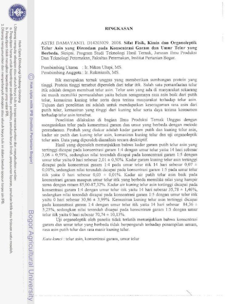 Sifat Fisik Kimia Dan Organoleptik Telur Asin Yang Sifat Fisik Kimia Dan Organoleptik Telur Pdf Document
