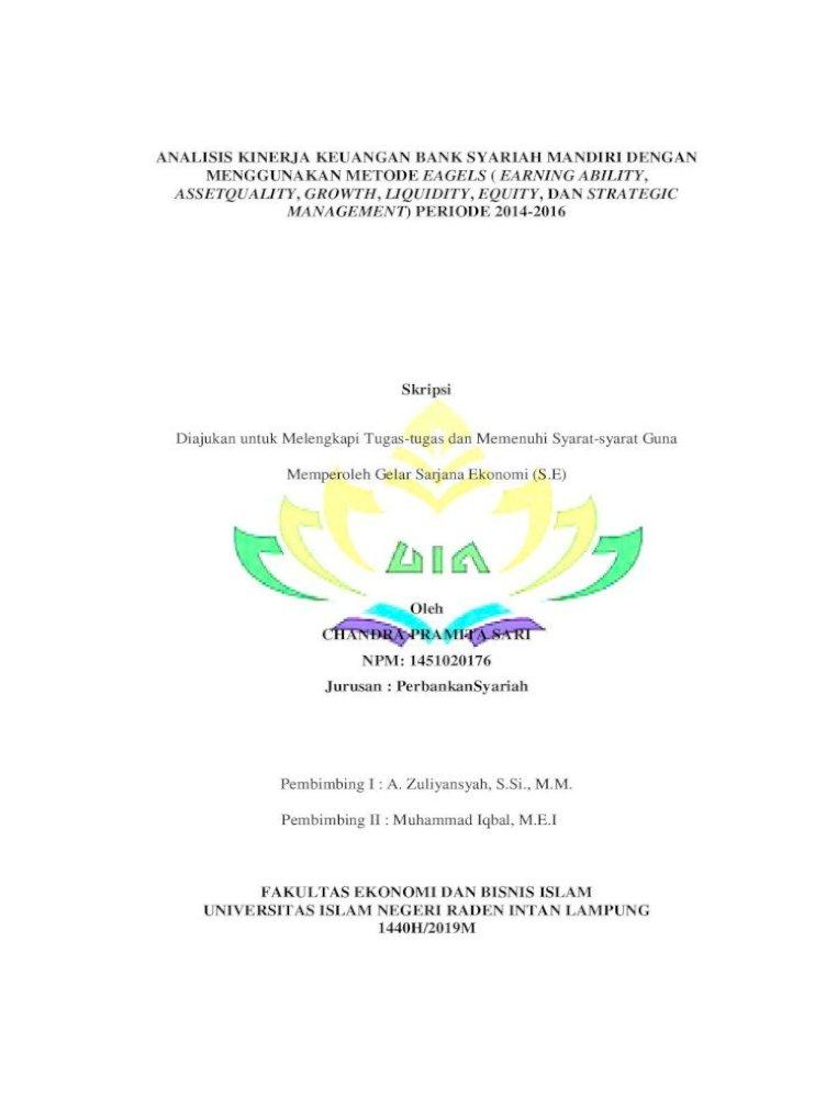 Analisis Kinerja Keuangan Bank Syariah Mandiri Dengan Abstrak Analisis Kinerja Keuangan Bank Pdf Document