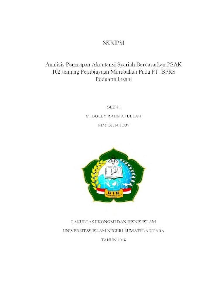 Skripsi Analisis Penerapan Akuntansi Syariah Berdasarkan Ini Bertujuan Untuk Menganalisis Penerapan Pdf Document