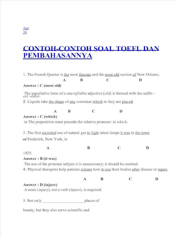 11++ Soal grammar dan pembahasannya pdf ideas