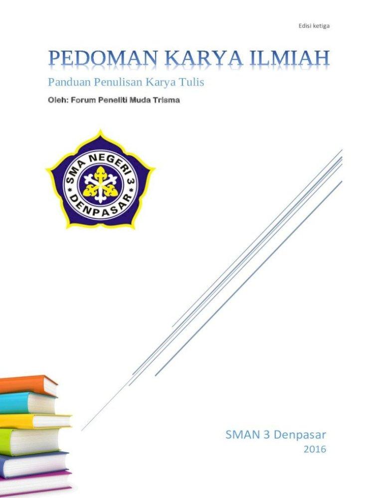 Panduan Penulisan Karya Tulis Ppki 2016 Pdf 3 Buku Panduan Penulisan Karya Tulis Prakata Puji Pdf Document
