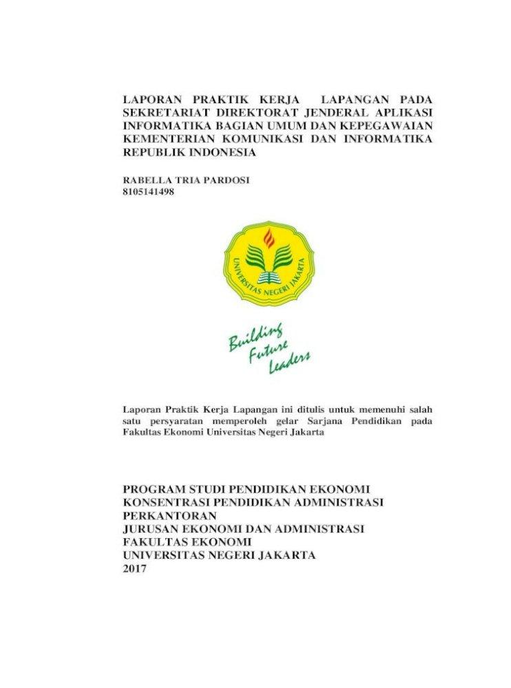 Laporan Praktik Kerja Lapangan Pada Sekretariat Perkantoran Tugas Praktikan Selama Pkl Meliputi Pdf Document