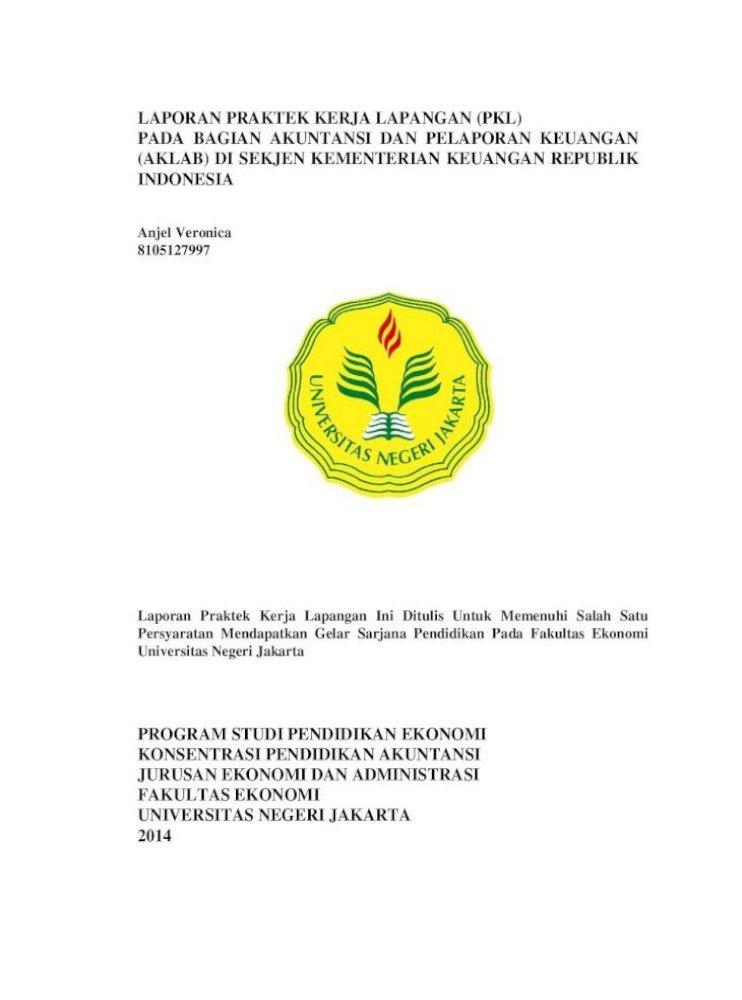 Contoh Laporan Praktek Kerja Lapangan Akuntansi - Siti