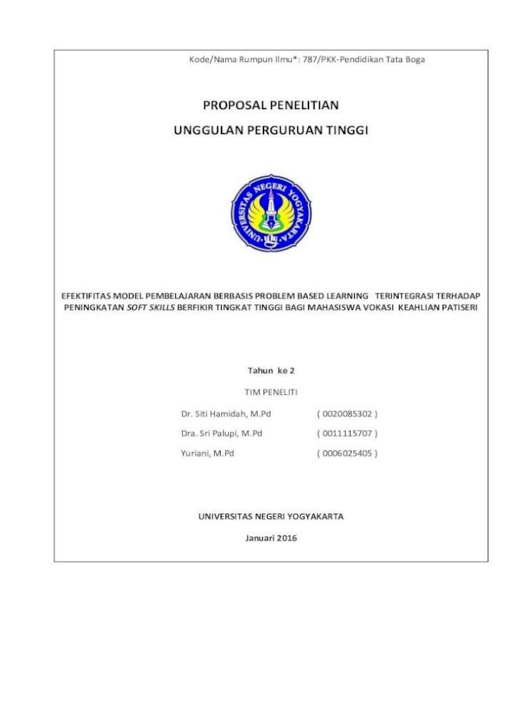 Proposal Penelitian Unggulan Perguruan Staff Uny Ac Id Sites Default Files Penelitian Yuriani Dra Mpd Pdf Document