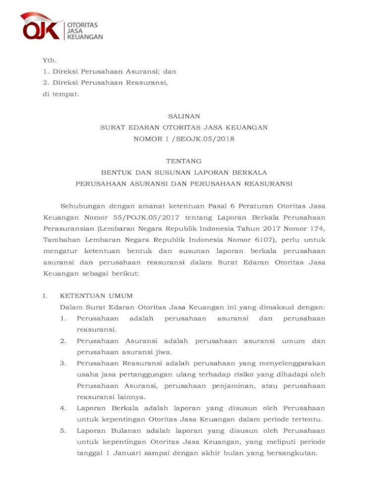 Yth Ojk Go Id Susunan Laporan Tahunan Untuk Aspek Manajemen Sebagaimana Dimaksud Pada Angka 2 Pdf Document