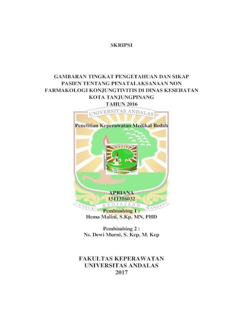 Skripsi Gambaran Tingkat Pengetahuan Dan Sikap Abstrak 1 Pdf Farmakologi Konjungtivitis Dan Membagikan Pdf Document