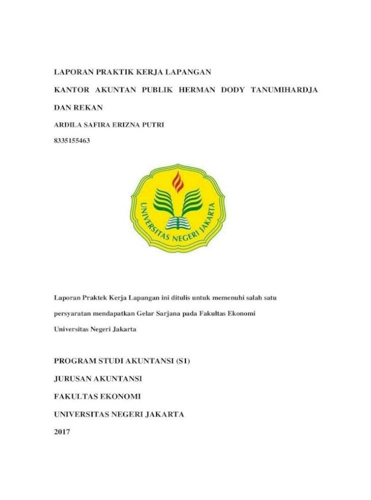 Laporan Praktik Kerja Lapangan Kantor Akuntan Ardila Safira 8335155463 Kap Bab Iii Pelaksanaan Pdf Document