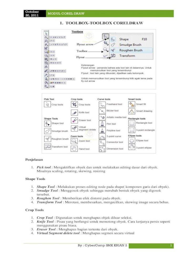 Modul Corel Draw Media Tool Membuat Obyek Garis Dengan Berbagai Bentuk Yang Artistik 4 Pen Tool Pdf Document