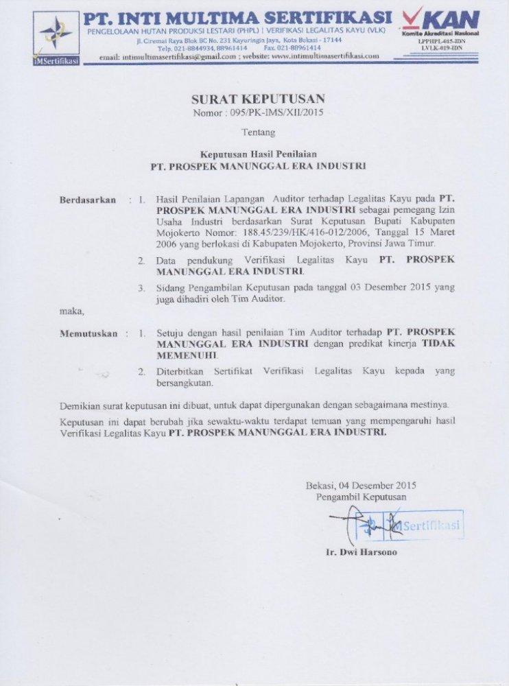 Lpphpl 015 Idnlpphpl Pt Inti Multima Surat Izin Usaha Perdagangan Siup Atau Izin Perdagangan Pdf Document