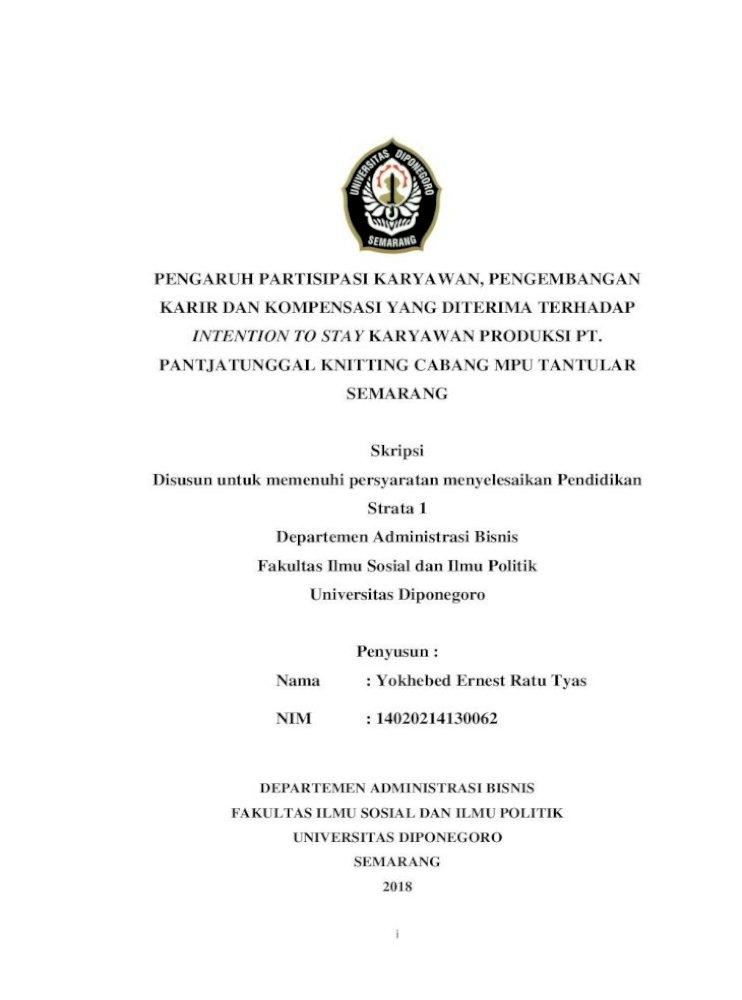 Pengaruh Partisipasi Karyawan Pengembangan Departemen Administrasi Bisnis Fakultas Ilmu Sosial Pdf Document