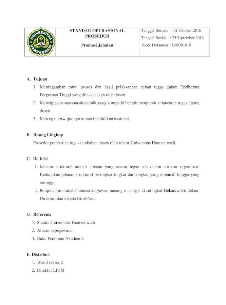 Standar Operasional Tanggal Berlaku 01 Oktober 2016 Lp3m F Dekan Melalui Ketua Program Studi Pdf Document