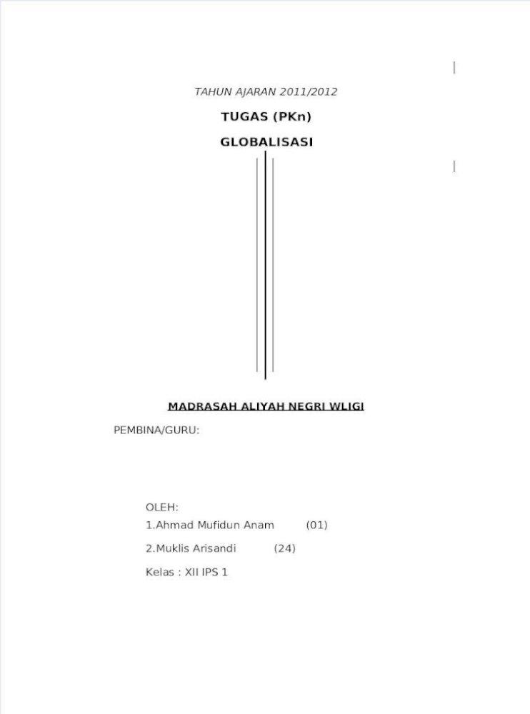 Contoh Makalah Globalisasi Pdf Document