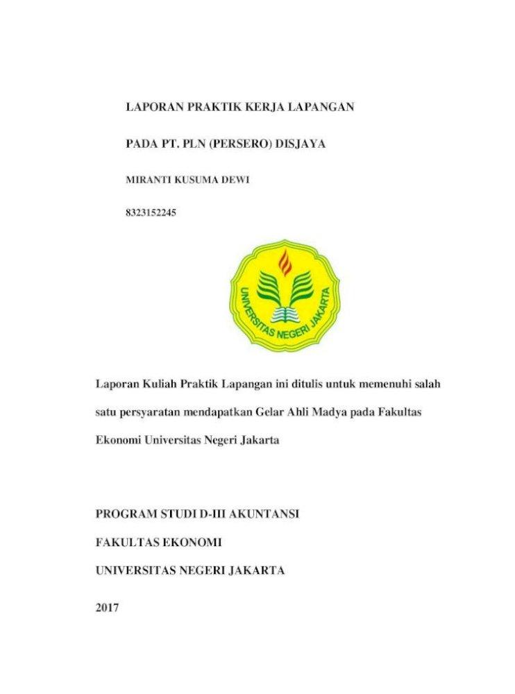 Laporan Praktik Kerja Lapangan Pada Pt Pln Setelah Melaksanakan Pkl Di Pt Pln Persero Distribusi Pdf Document