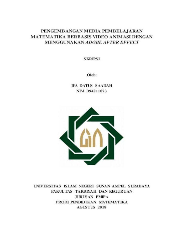 Pengembangan Media Pembelajaran Matematika Datus Saadah Media Pembelajaran Matematika Pdf Document