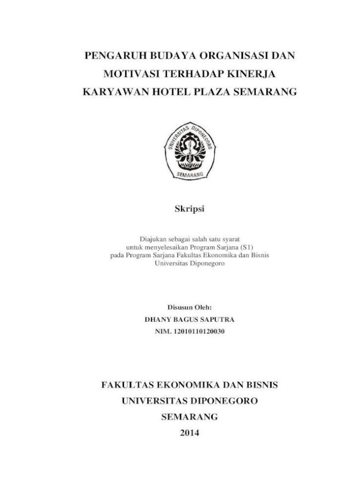 Pengaruh Budaya Organisasi Dan Motivasi Terhadap Pengaruh Budaya Organisasi Dan Motivasi Terhadap Pdf Document