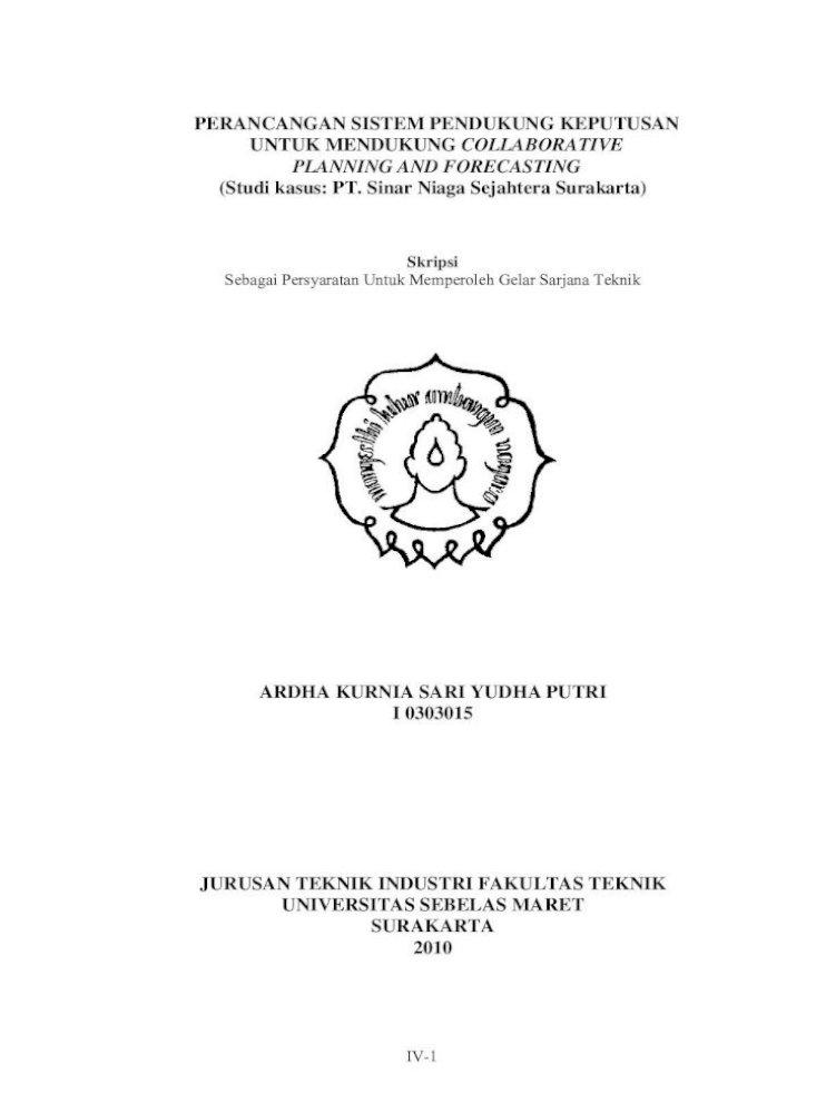 Perancangan Sistem Pendukung Keputusan Iv 2 Lembar Pengesahan Judul Skripsi Perancangan Sistem Pdf Document