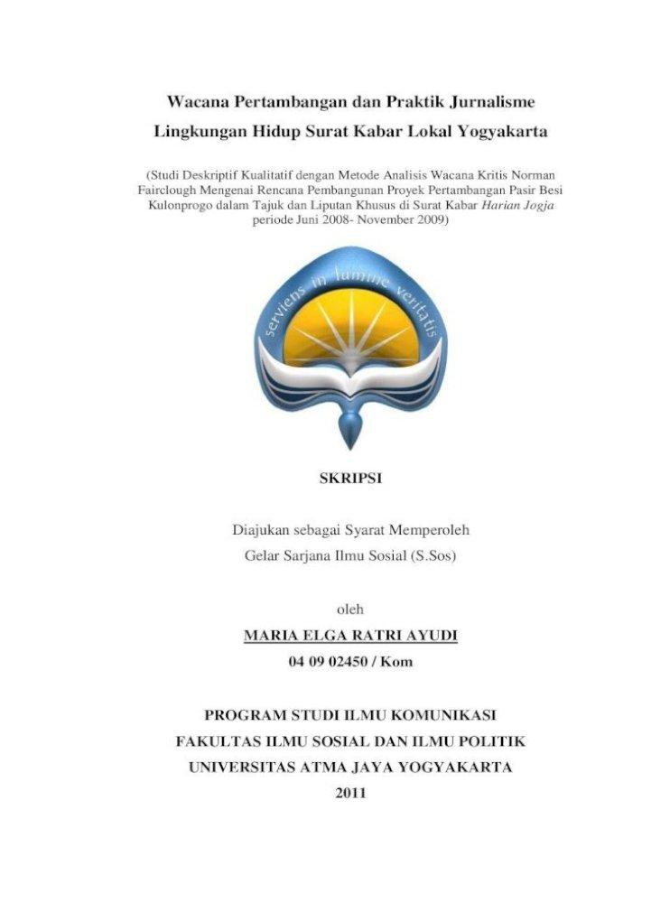 Wacana Pertambangan Dan Praktik Jurnalisme Lingkungan Untuk Coret Coretan Kertas Di Dinding Pdf Document