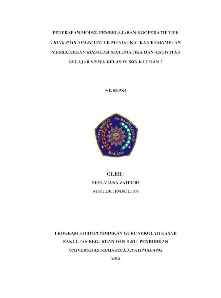 Skripsi Core Ac Uk A Halaman Judul Ptk Pembelajaran Matematika Siswa Kelas Vii G Kementerian Pendidikan Dan Kebudayaan 2013 Buku Tematik Terpadu Kurikulum 2013 Pdf Document