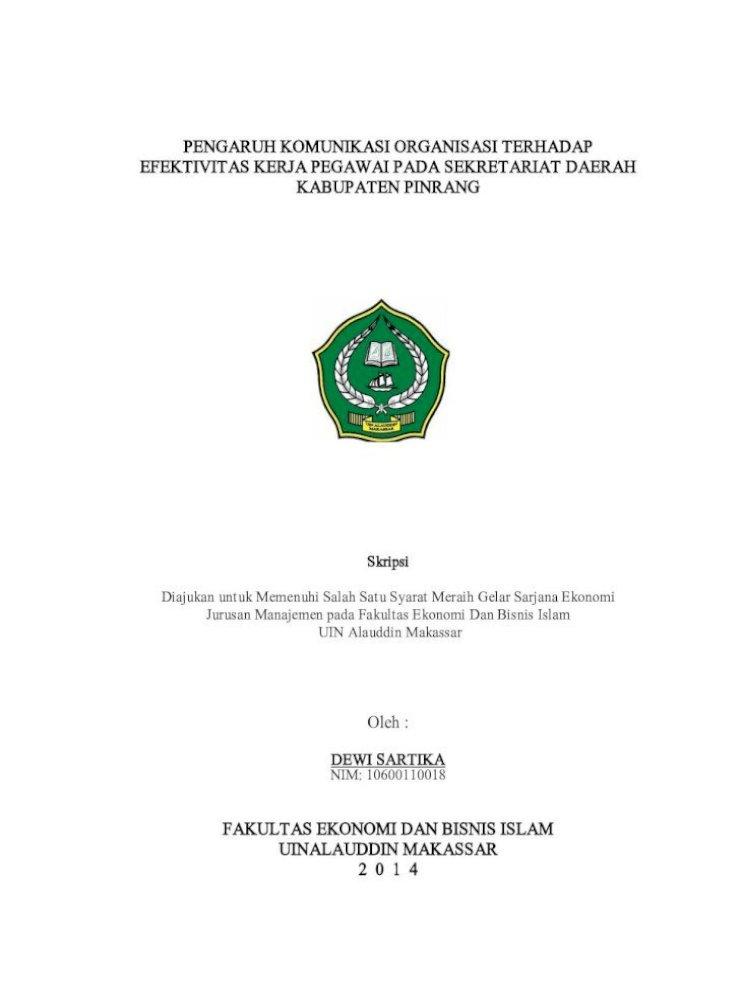 Pengaruh Komunikasi Organisasi Terhadap Komunikasi Pengaruh Komunikasi Organisasi Terhadap Efektivitas Pdf Document