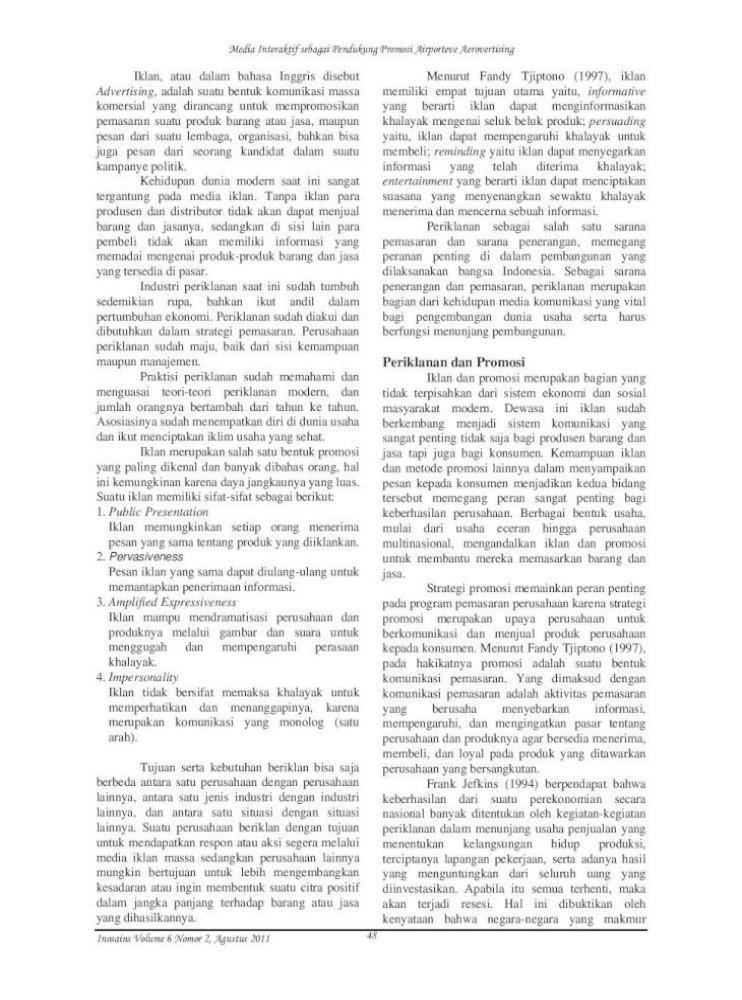 1 Media Interaktif Sebagai Pendukung Promosi Media Interaktif Sebagai Pendukung Promosi Airporteve Pdf Document