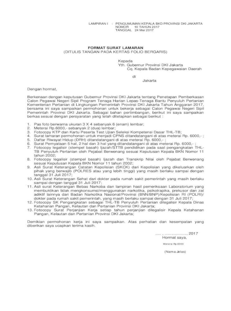 Format Surat Lamaran Ditulis Tangan Surat Lamaran Ditulis Tangan Pada Kertas Folio Bergaris Kepada Pdf Document