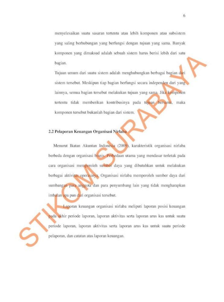 Bab Ii Landasan Teori Surabaya Sir Ii Pdf7 Contoh Format Laporan Keuangan Organisasi Nirlaba Laporan Pdf Document