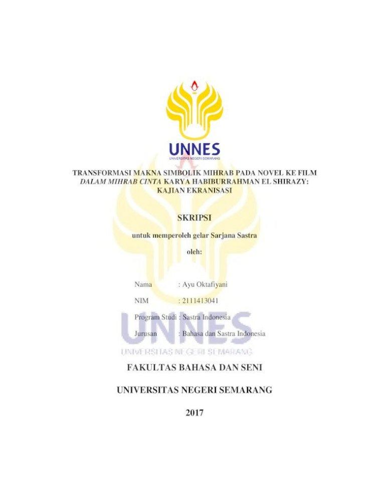 Skripsi Unnes 2019 Ide Judul Skripsi Universitas