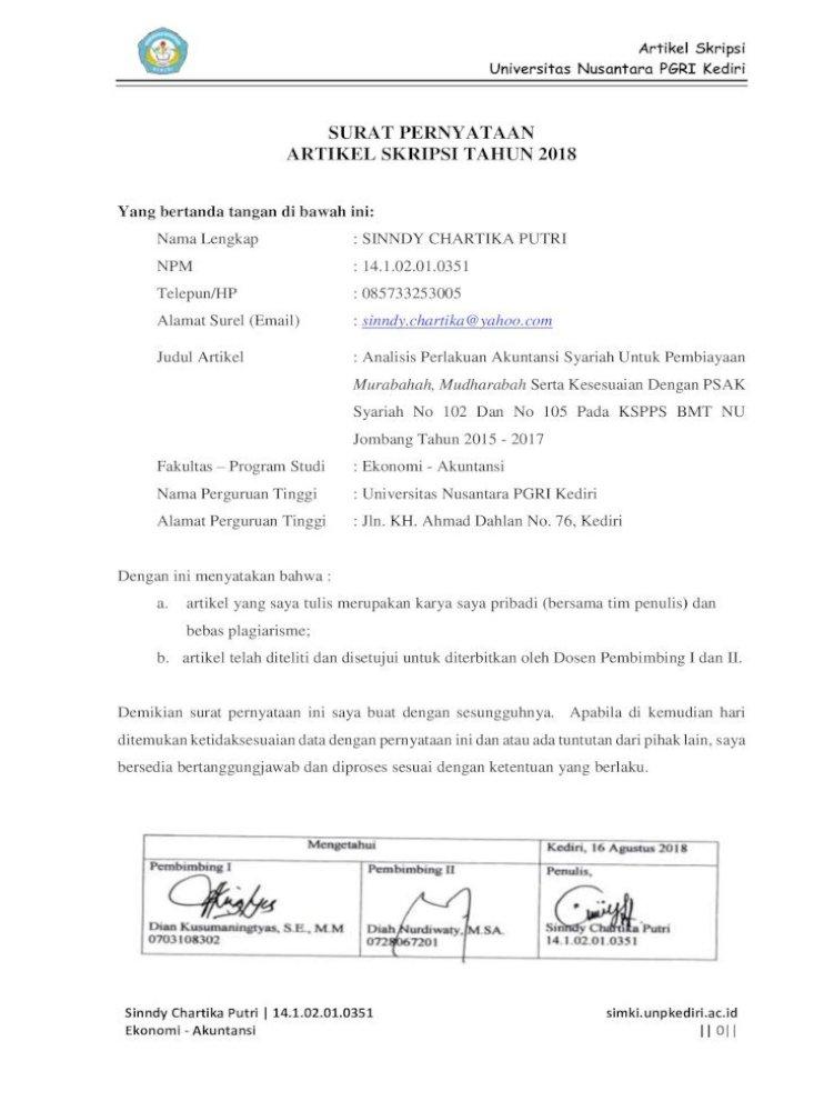 Analisis Perlakuan Akuntansi Syariah Untuk Simki Analisis Perlakuan Akuntansi Syariah Pada Pembiayaan Pdf Document