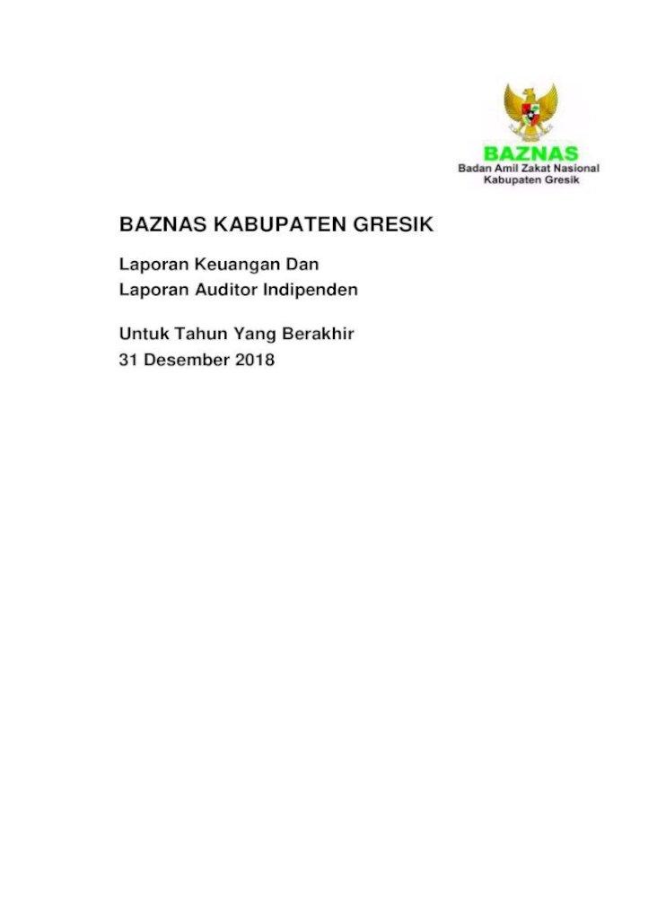 Baznas Kabupaten Gresik Semua Informasi Dalam Laporan Keuangem Badan Arrril Zatat Nasional Baznas Pdf Document