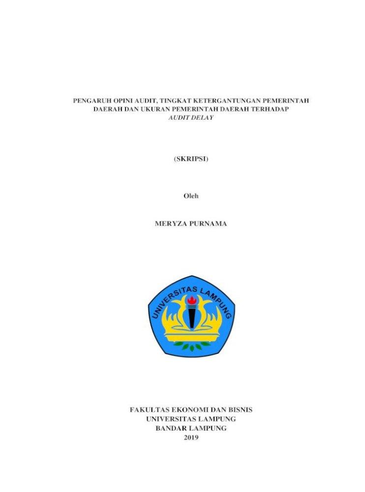 Skripsi Oleh Meryza Tanpa Bab آ Salah Satu Ciri Khusus Akuntansi Sektor Publik Adalah Pdf Document