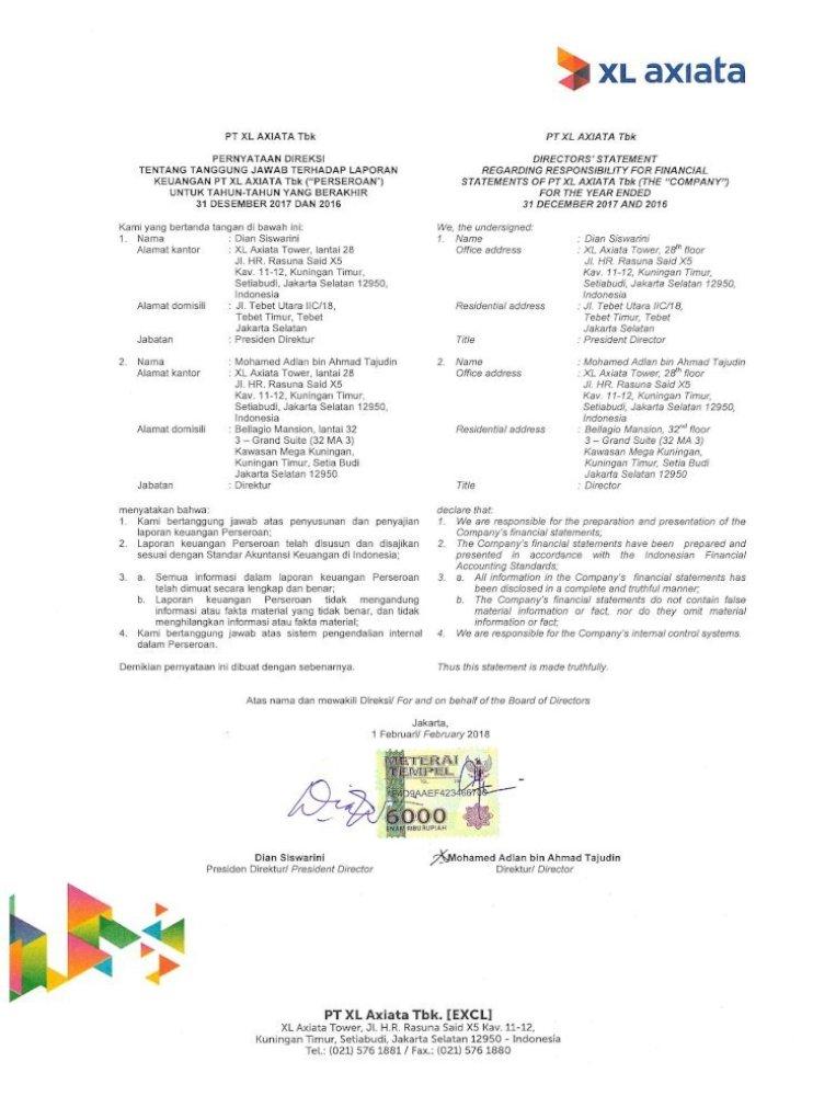 Pt Xl Axiata Tbk Xl Axiata 1217 Pdfآ Beban Dibayar Dimuka 3 462 659 6 29e 4 021 117 Prepayments Piutang Pdf Document