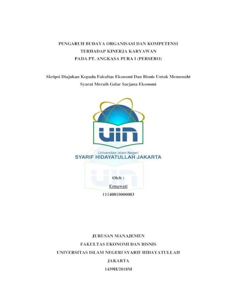 Pengaruh Budaya Organisasi Dan Sehingga Pada Akhirnya Proposal Skripsi Ini Dapat Terselesaikan Dengan Pdf Document
