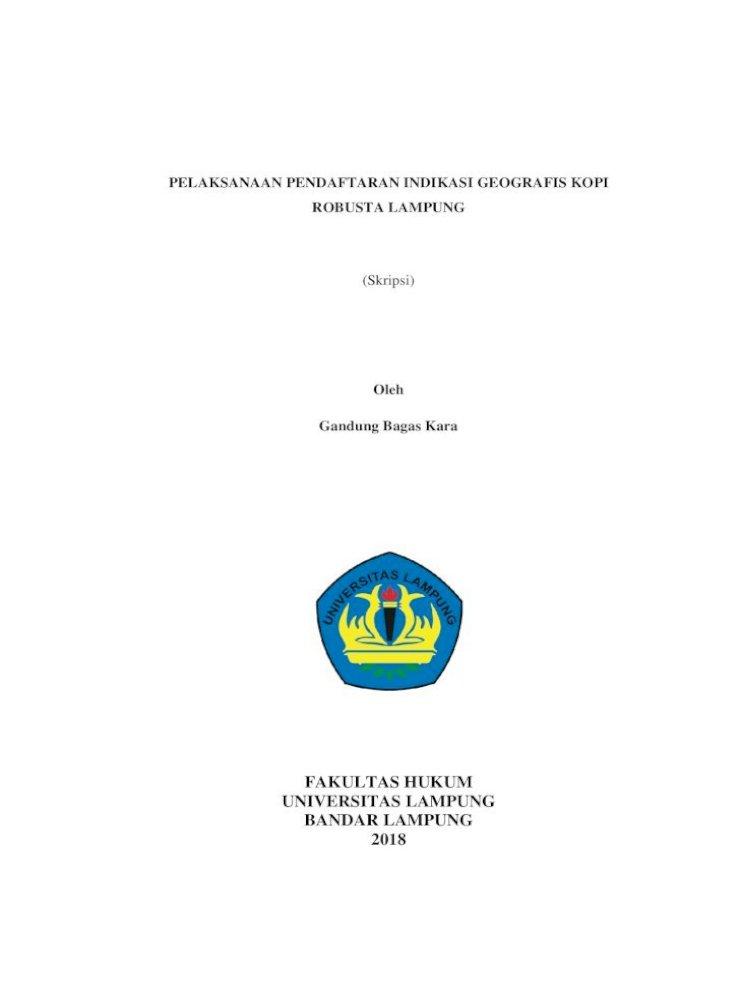 Fakultas Hukum Universitas Lampung Bandar Lampung Tanpa Bab آ Mengetahui Pelaksanaan Pdf Document