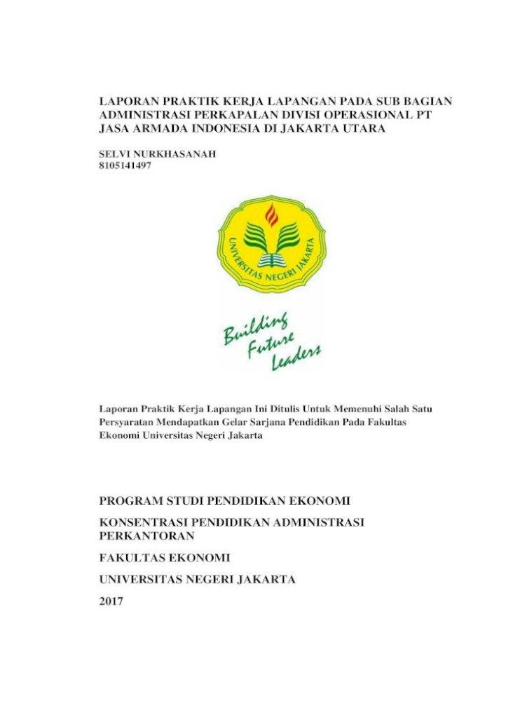 Laporan Praktik Kerja Lapangan Pada Sub Studi Administrasi Perkantora Dapat Menarik Perusahaan Agar Pdf Document