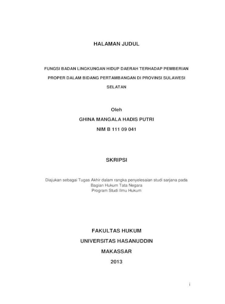 Judul Proposal Hukum Tata Negara Gambaran