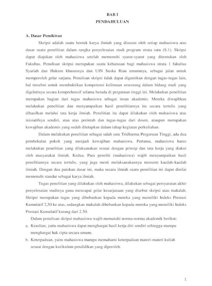 Bab I Pendahuluan A Dasar Pemikiran 1 Bab I Pendahuluan A Dasar Pemikiran Skripsi Adalah Suatu Pdf Document