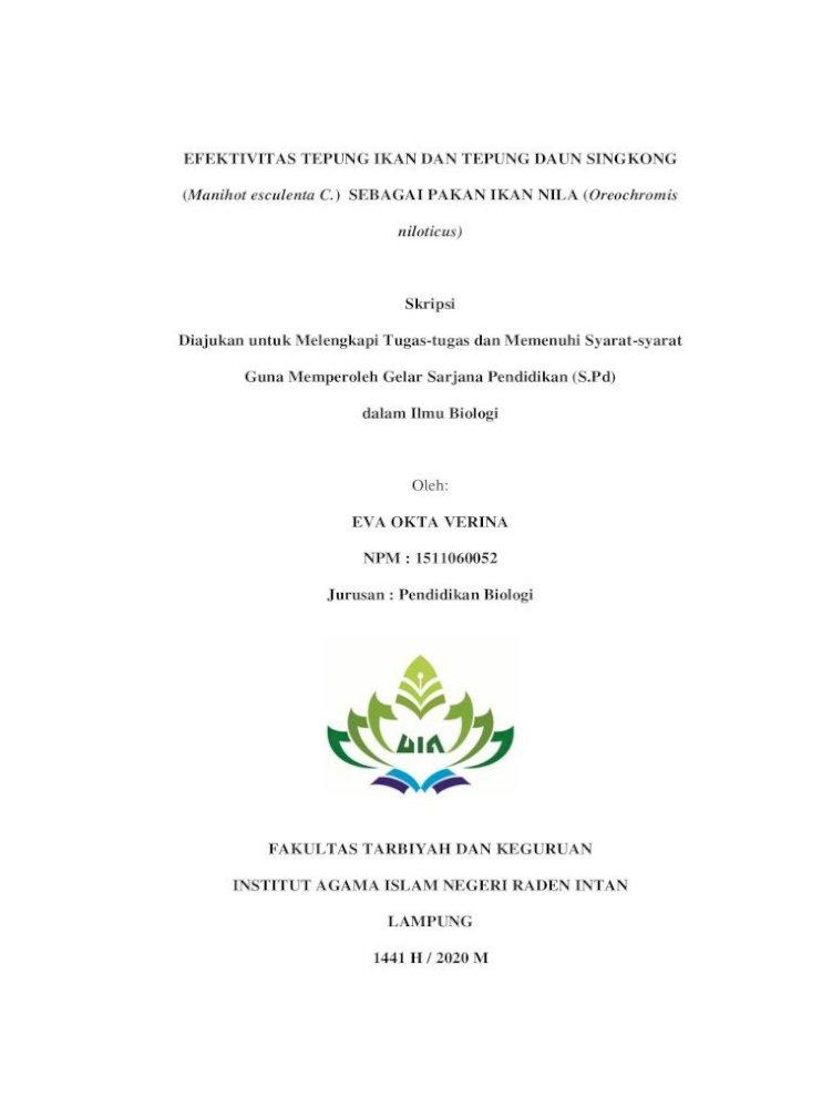 Efektivitas Tepung Ikan Dan Tepung Daun 2 Pdf Efektivitas Tepung Ikan Dan Tepung Daun Singkong Manihot Pdf Document