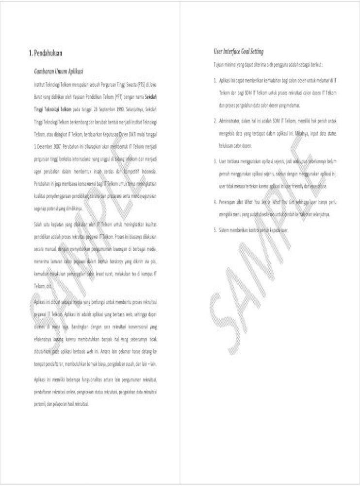Contoh Laporan Tugas Besar Imk Pdf Document