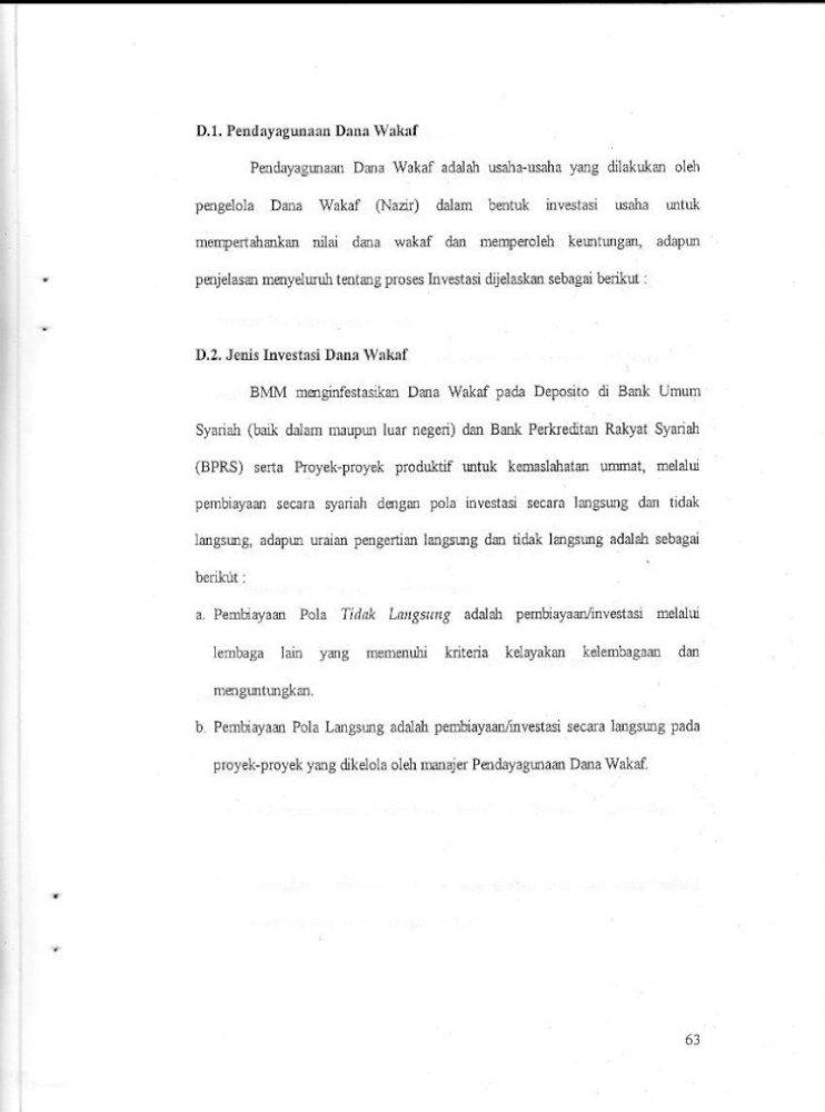 Skripsi Tentang Analisis Pengelolaan Wakaf Tunai Di Indonesia Hal 63 77 Pdf Document